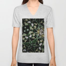 Succulents on Show No 1 Unisex V-Neck