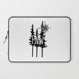 PNW Trees & Compass Laptop Sleeve
