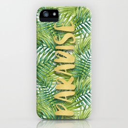 Paradise in Hawaiian Palm Tree Leaves iPhone Case