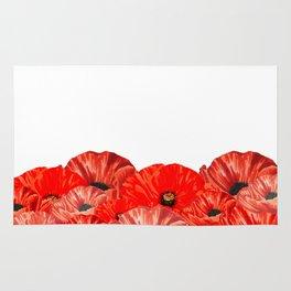 Poppies on White Rug