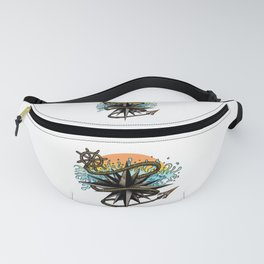 Nautical Splash Fanny Pack