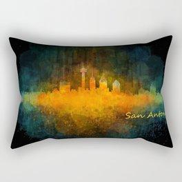 San Antonio City Skyline Hq v4 Rectangular Pillow