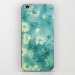 Vintage blue iPhone Skin