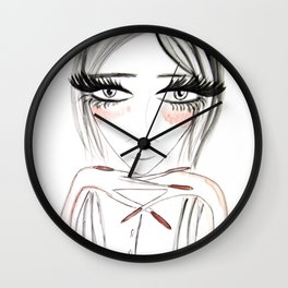Grey Eyes Wall Clock