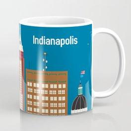 Indianapolis, Indiana - Skyline Illustration by Loose Petals Coffee Mug