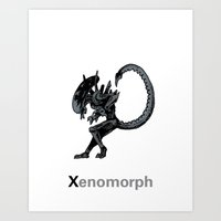 xenomorph Art Prints featuring Xenomorph by James Courtney-Prior