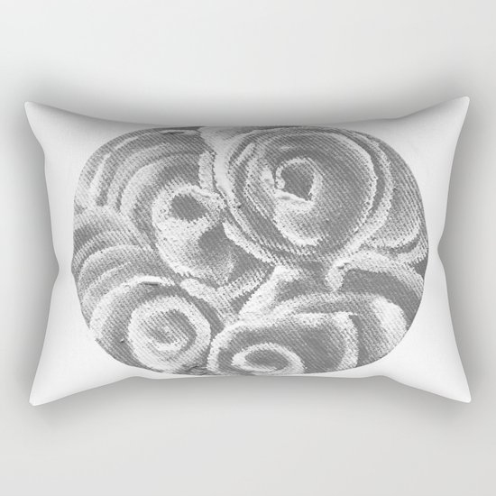 Peach Plum Dreams in the Dark Rectangular Pillow