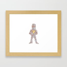 Medieval knight Framed Art Print