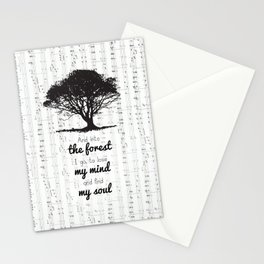 Into the forest Stationery Cards