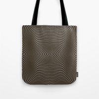 tree rings Tote Bags featuring Tree Rings by Morgan Bajardi