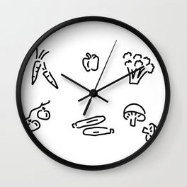 vegetables mushrooms Wall Clock