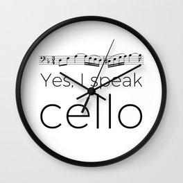 I speak cello Wall Clock