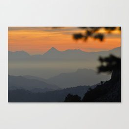 """Sunset at the mountains II"" Canvas Print"