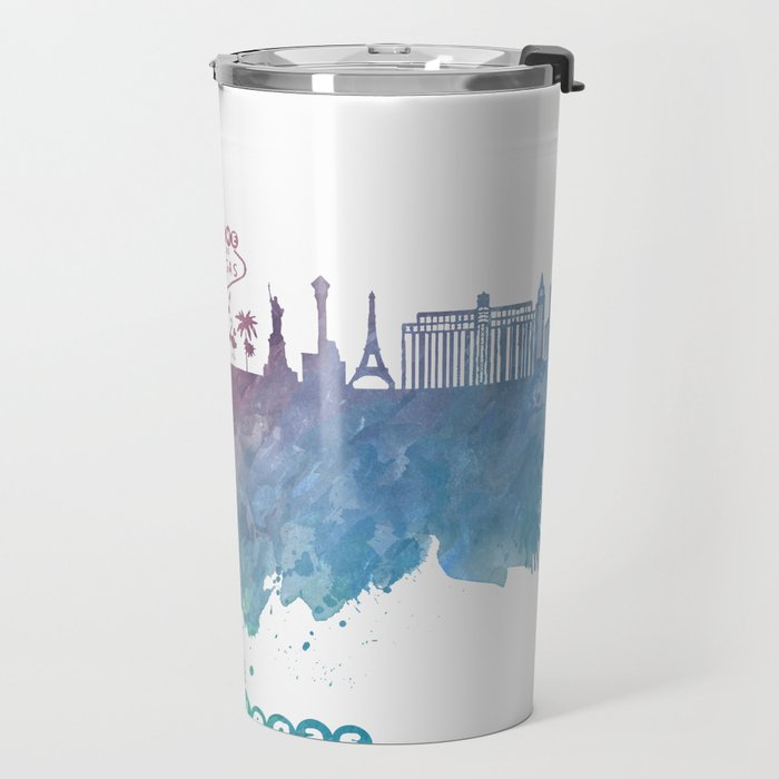 Las Vegas Nevada Skyline colored Travel Mug