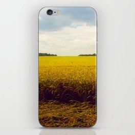 Prairie Landscape Bright Yellow Wheat Field iPhone Skin