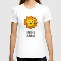 lion king T-shirts featuring Lion & King by Jane Mathieu