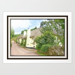 Devon Long House Art Print