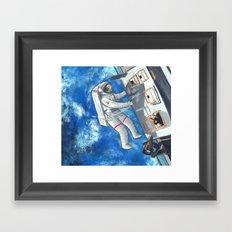 Space Walker Framed Art Print