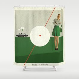 Blame The Sunshine   Collage Shower Curtain