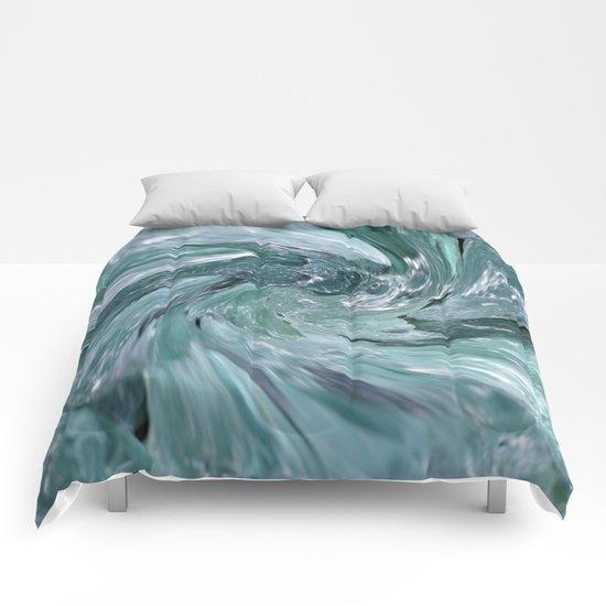 Blue Vortex Comforters
