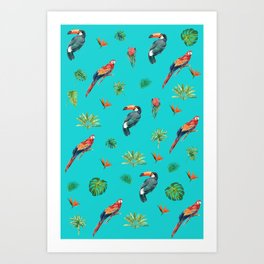 Tropical Birds Print Art Print