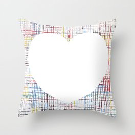 The System - large heart Throw Pillow