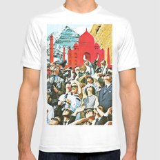 Up White MEDIUM Mens Fitted Tee