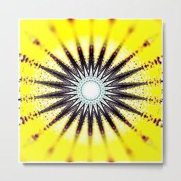 Reused Sun Passion Mandala Metal Print
