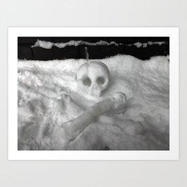 Snow Skull Art Print