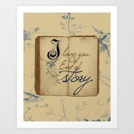 "Fairy Tale Love ""I Love You"" Art Print"