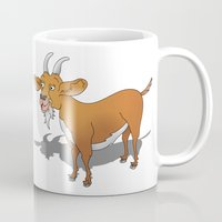 goat Mugs featuring Goat by mailboxdisco