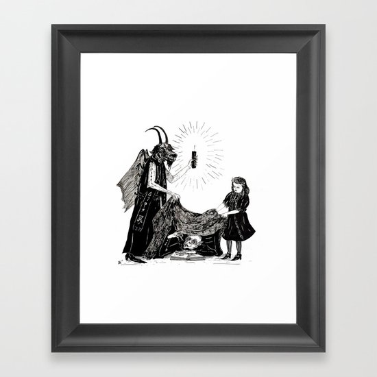 The Darkness And The Light Framed Art Print