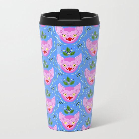 Vampire Bat Metal Travel Mug
