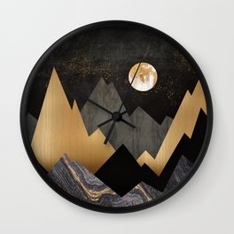 Metallic Night Wall Clock