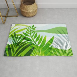 Rainforest Morning / Abstract Landscape Series Rug