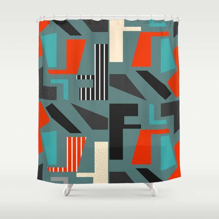 Lost letters Shower Curtain