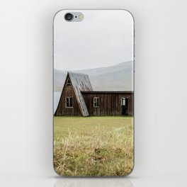 House in front of the lake iPhone Skin