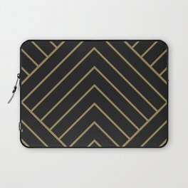 Diamond Series Pyramid Gold on Charcoal Laptop Sleeve