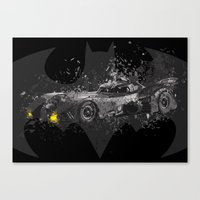 1989 Canvas Prints featuring Batmobile - 1989 by Nerdiful Art
