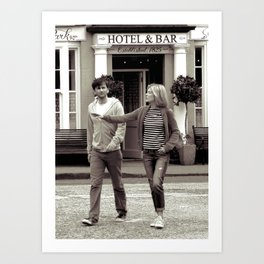David Tennant Rosamund Pike, Movie On Location, Scotland ( Doctor Who TV actor ) Art Print
