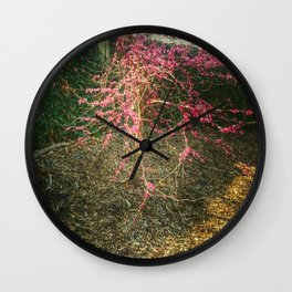 Chinese Red Bud  Wall Clock