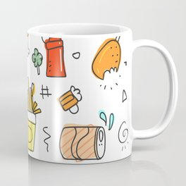 Fat food pattern. Coffee Mug