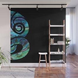 Tiki Black Wall Mural