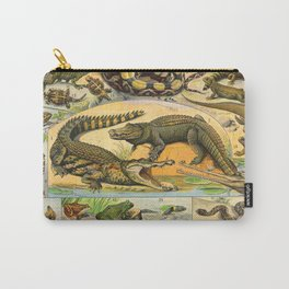 Reptiles Chart Nature Vintage Snake Turtle Alligator Carry-All Pouch