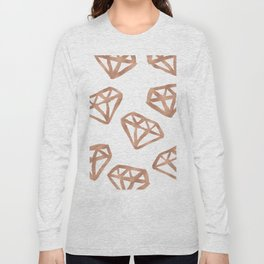 Rose gold diamond print Long Sleeve T-shirt
