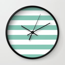 Lucite green stripes Wall Clock