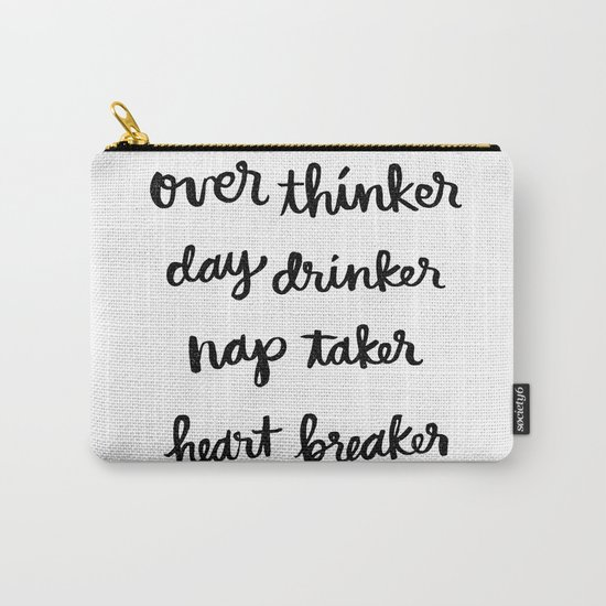 over thinker, day drinker Carry-All Pouch