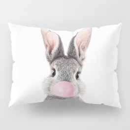 Bunny With Bubble Gum Pillow Sham