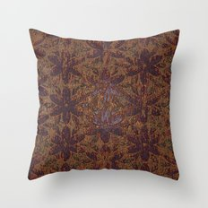 Rusty Flowers Throw Pillow