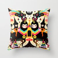 high Throw Pillows featuring Flying High by Muxxi